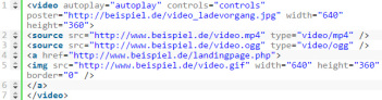 HTML5-video Code-Schnippsel